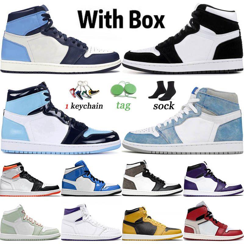 nike air jordan retro 1 1s off white Jumpman 1 1s WITH BOX 2021 وصول أحذية كرة السلة تويست هايبر رويال للرجال والنساء MID Obsidian UNC Chicago Trainers Sport Sneakers 36-46