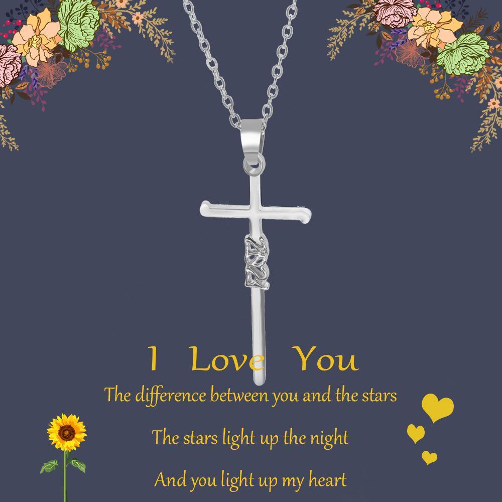 Jóias Vintage Declaração religiosa dourada colares Cross pingentes para mulheres longas cadeia y acessórios afiados por atacado