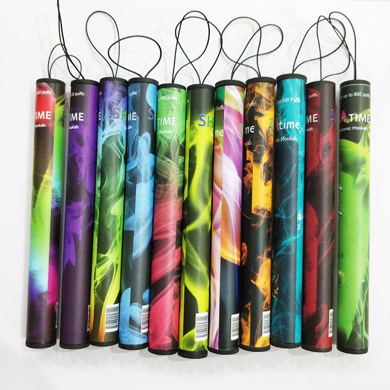 일회용 vape shisha 시간 전자 물 담뱃대 담배 20pcs / 플라스틱 튜브 미리 채워진시 Sha 기화기 키트 Vapor_World