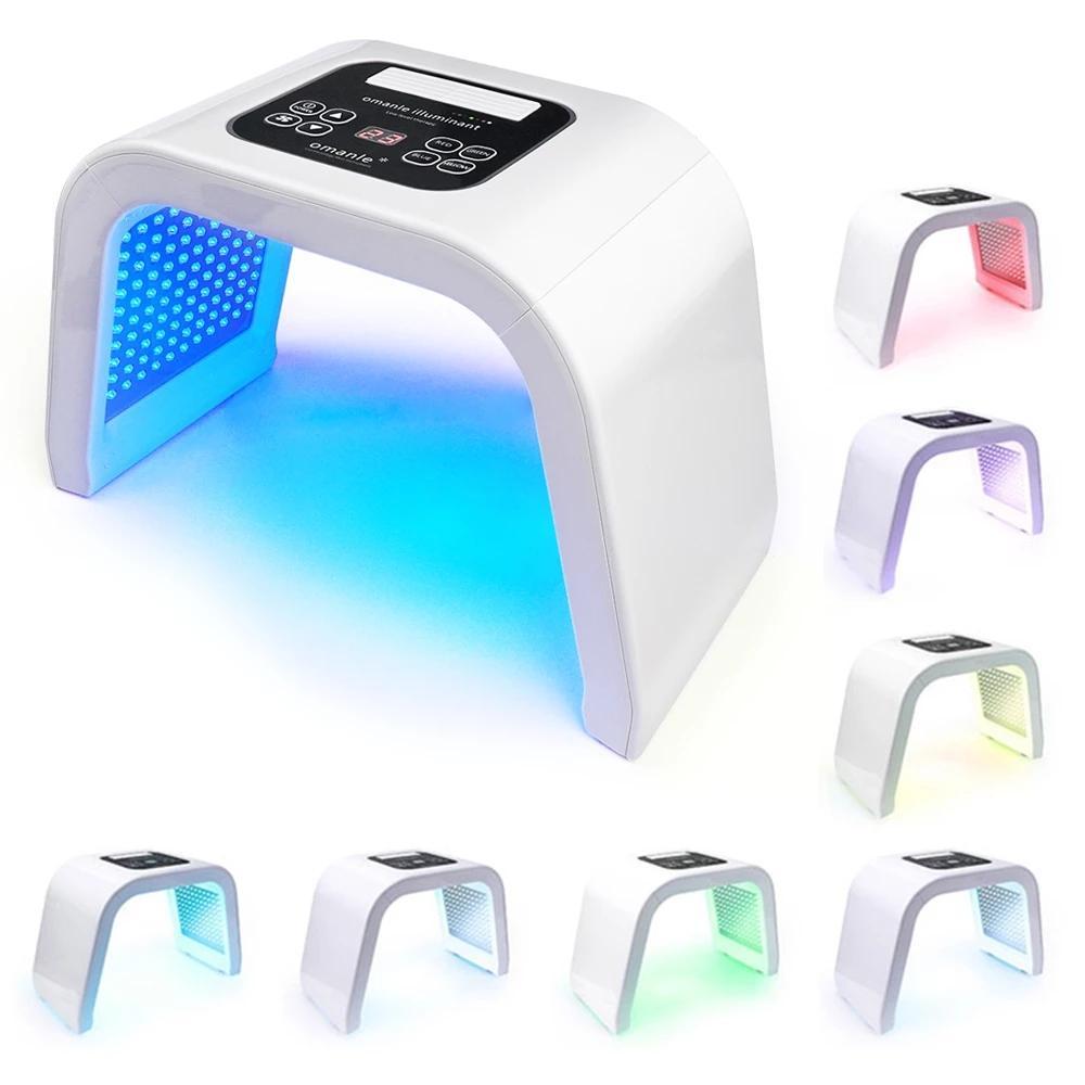 7 컬러 LED 피부 회춘 광자 가벼운 치료 PDT 램프 트리트먼트 여드름 제거제 안티 링클 스파 미용 기계