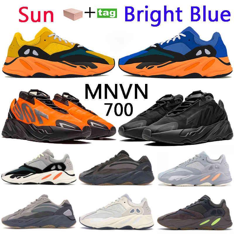 새로운 러너 700 v1 솔리드 그레이 밝은 푸른 태양 운동 신발 관성 V2 아날로그 핑크 노란색 레드 오렌지 트리플 검은 반사 스 니커