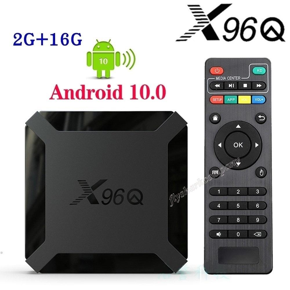 X96q Android 10.0 TV Box Allwinner H313 2GB + 16GB Soporte 2.4G WIFI PK TX3 T95Q X96 AIR