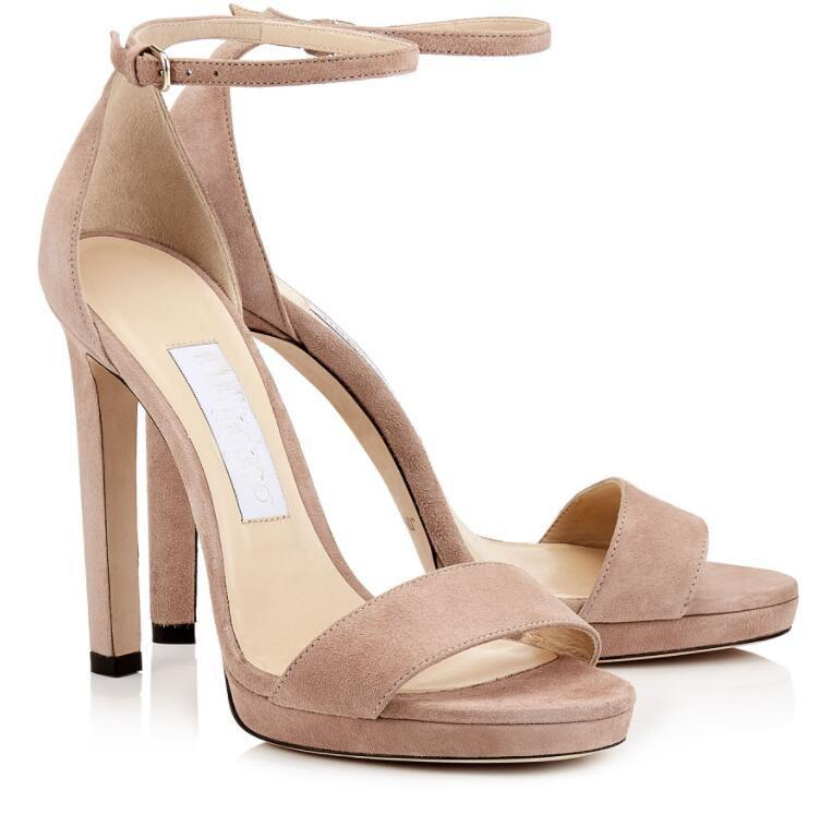 Perfeito agradável sapatos de moda sandálias !! Jimmi bombas torta de tornozelo de salto alto das mulheres marca festa casamento senhora lady gladiador sandalias