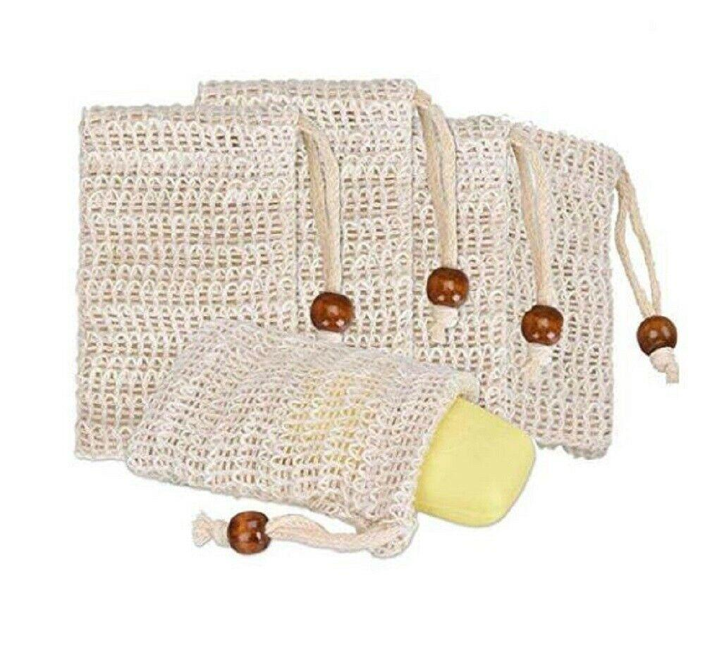 الصابون التوقف حقيبة السيزال الحقيبة حامل أجهزة المنزلية دش حمام رغوة وتجفيف شبكة التقشير الطبيعي