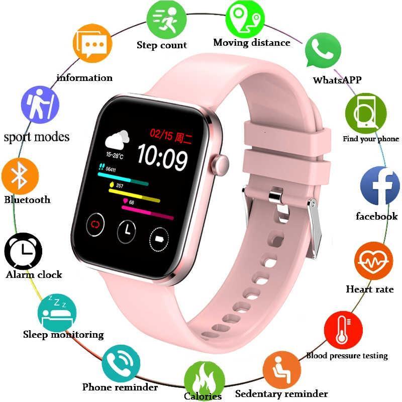 ضوء جديد شاشة اللون ووتش الرجال لمسة كاملة اللياقة تعقب ضغط الدم الذكية ساعة ساعة يد المرأة smartwatch ل xiaomi