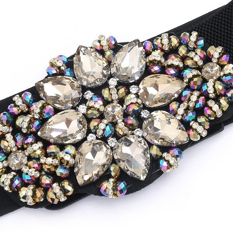 Cinto de cinto de cintura larga cintura simples coreano cinto cintura selo feminino de alta qualidade moda menina de diamante malha cummerbunds