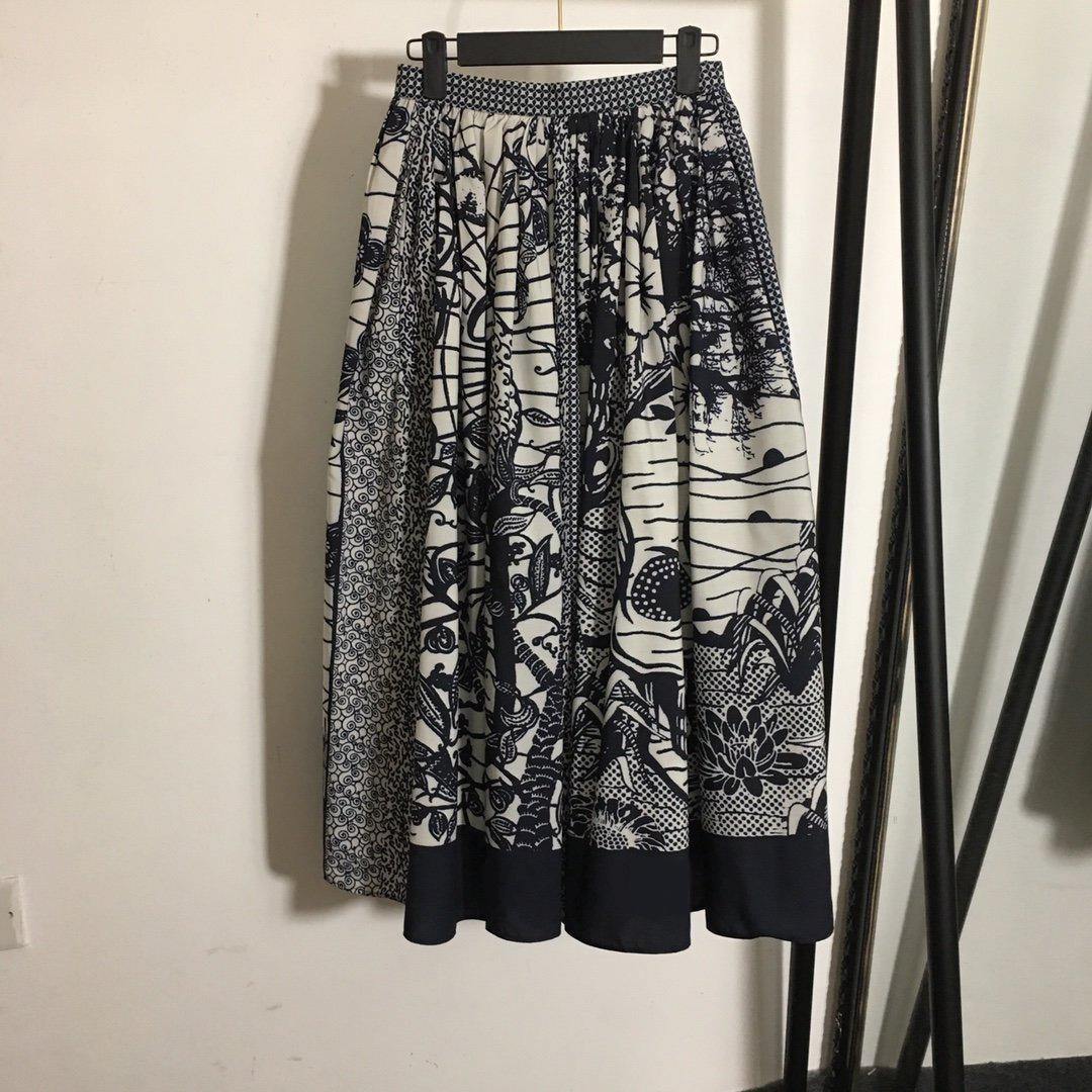 321 2021 Runway Spring Summer Dress Short Dress Mid Calf Brand Same Style Empire Flora Print Half Womens Dress MEIYI