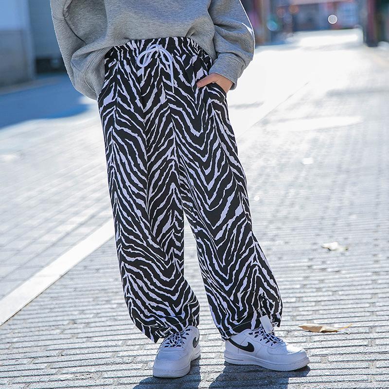Spring Kids Big Girls Fashion Sports Pants Design Leopard Trousers Korean Clothes