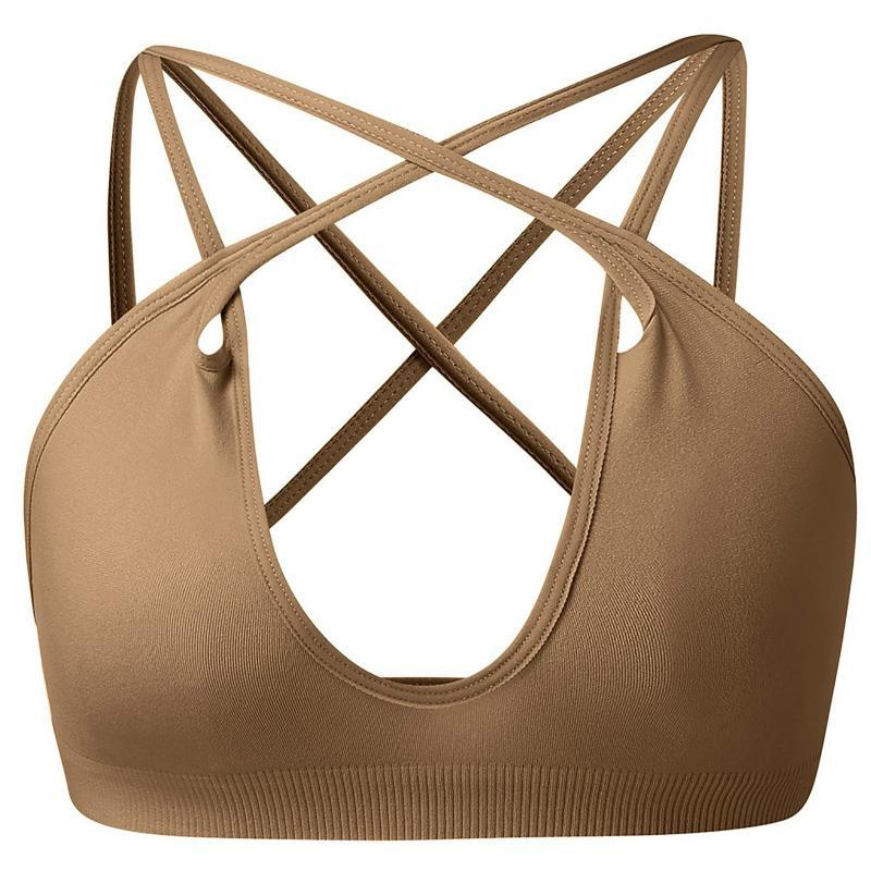 O sutiã esportivo feminino reuniu-se sem anel de aço Yoga Running Colete Fitness Front Zipper Sexy Underwear Provavelmente Tamanho # 3 Bras