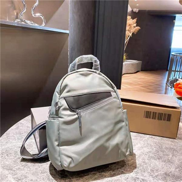 Selected classic waterproof canvas nylon backpack neutral casual style daily commuter backpack outdoor travel shoulder bag mutil colors
