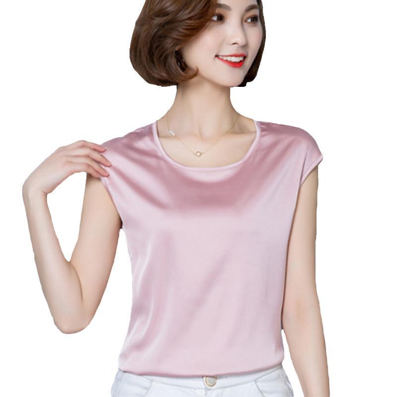 Frauen satin bluse 2021 sommer damen rosa tops frauen shirts blusen plus größe m-4xl batting sleeve kleidung blusas femininas frauen