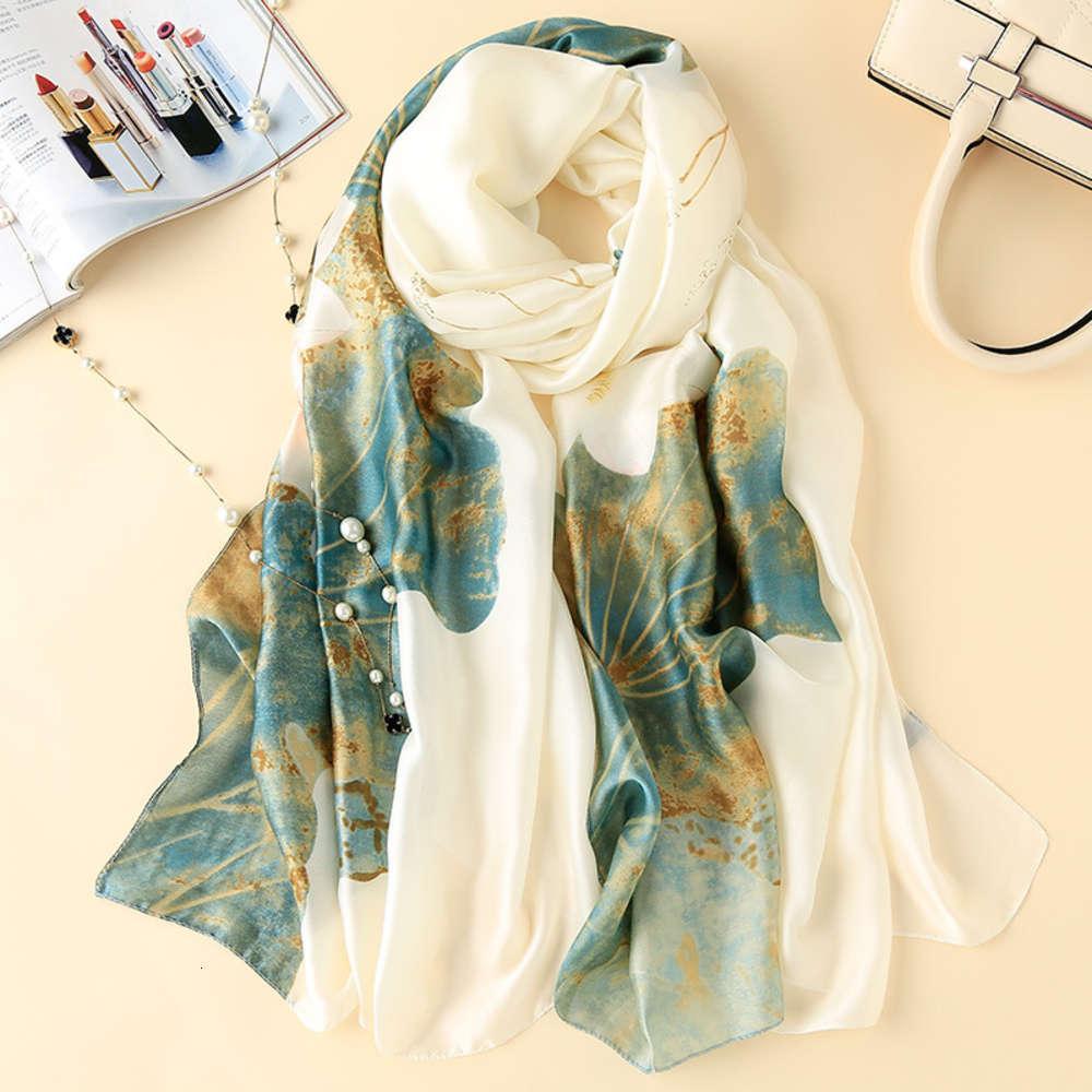 Sciarpe DesignerGift di alta qualità Sciarpa da donna Nuovo Scialletta di seta del gelso raso versatile Scialletta lunga sciarpa