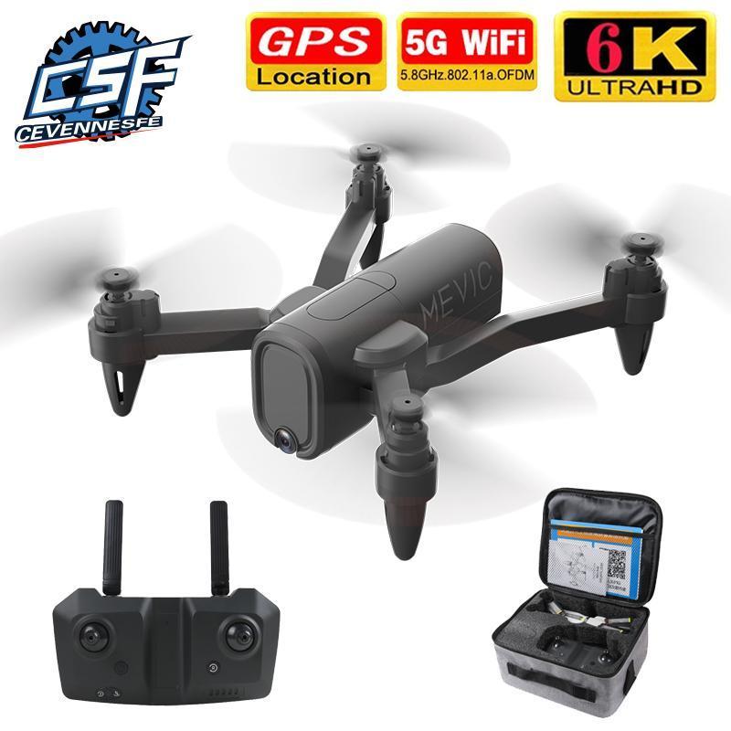 H6 GPS Drone Ile 4 K 6 K HD Çift Kamera ile 2.4G 5G WIFI FPV Sabit Yükseklik Mini Quadcopter RC Oyuncak Dronlar VS E525 L900 Pro