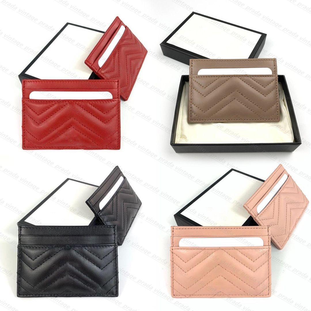 최고 품질 정품 가죽 고급 디자이너 Marmont G 지갑 패션 여성 남성 지갑 망 열쇠 고리 신용 카드 홀더 코인 미니 지갑 가방 매력 갈색 캔버스