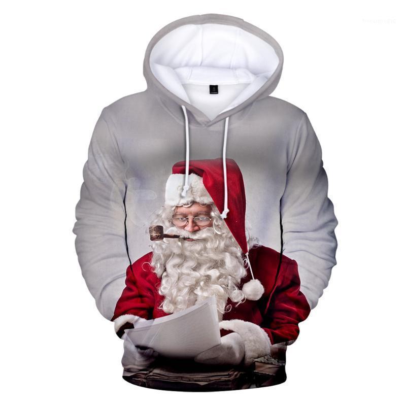 Hoodies Masculino Moletons Feliz Natal Homens 3D / Mulheres / Crianças 2021 Moda Swearshirt Capuz Criança Casual Top1