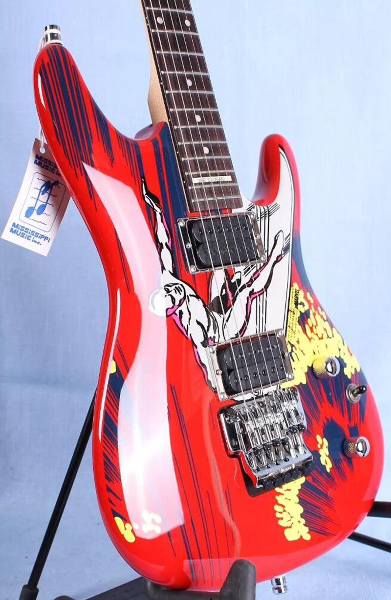 20-летие Джо Сатриани, серфинг инопланетянин красный электрический гитар JS20S подписанный инкрустация, Floyd Rose Tremolo фиксируя гайка