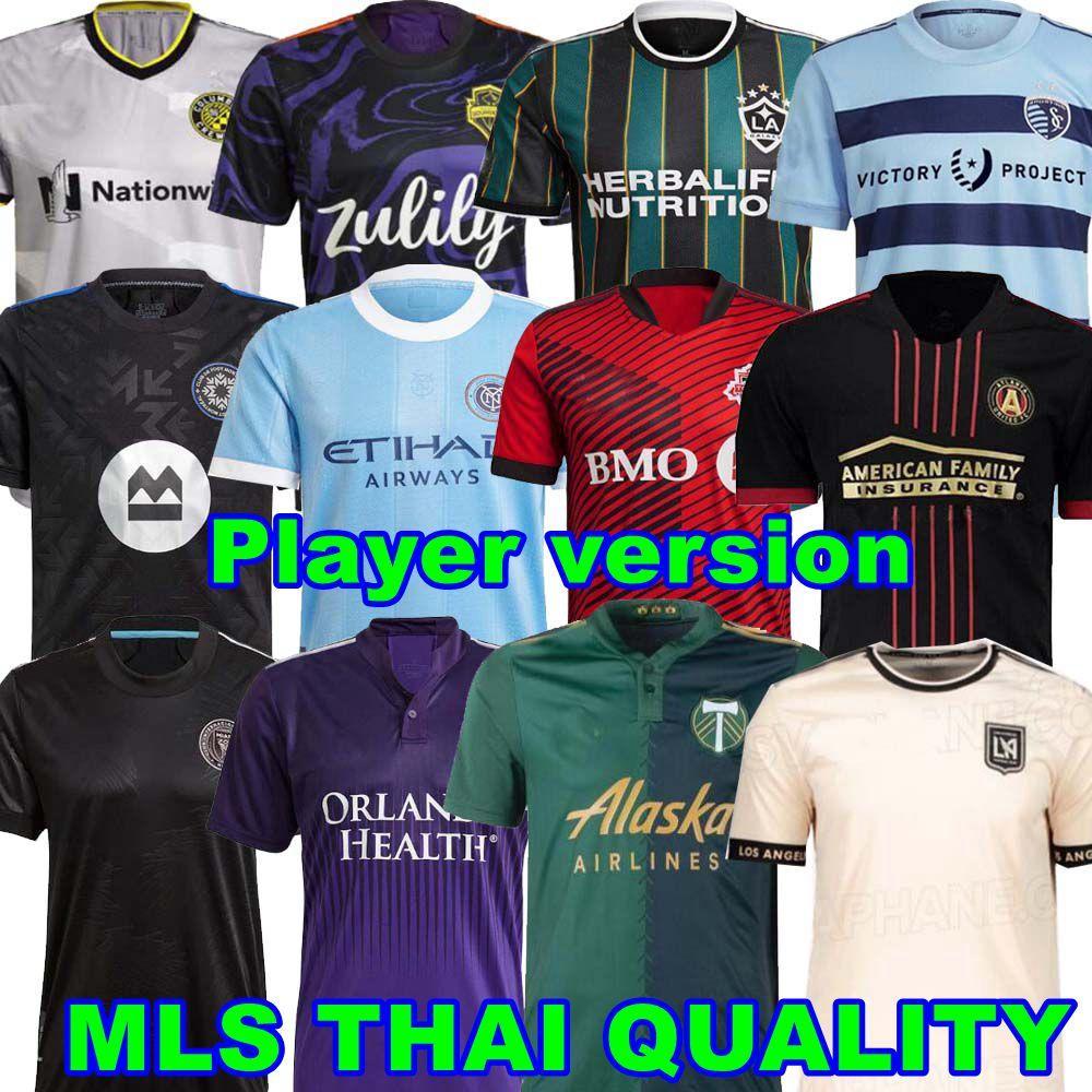 플레이어 버전 MLS Soccer Jerseys 21 22 LAFC 인터내셔널 마이애미 애틀랜타 라 갤럭시 요크 올랜도 시티 몬트리올 콜럼버스 시애틀 사운드 2021 토론토 FC 필라델피아