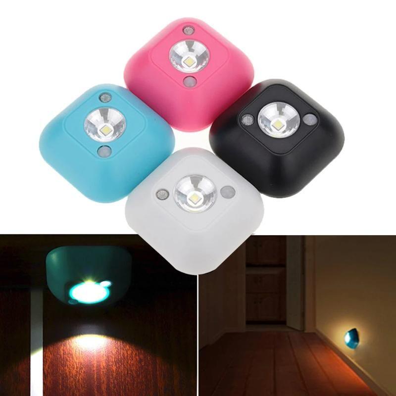 Night Lights LED ABS Long StandbyTime Energy Saving Infrared Motion Sensor Light Room Decoration Cabinet Stairs Wall Chrismas Decor Lamp
