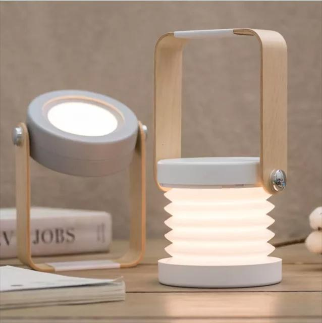 HaoXin Multifunction Foldable LED Night Light USB Rechargeable Table Lamp Portable Dimmable Lights for indoor lighting outdoor camping