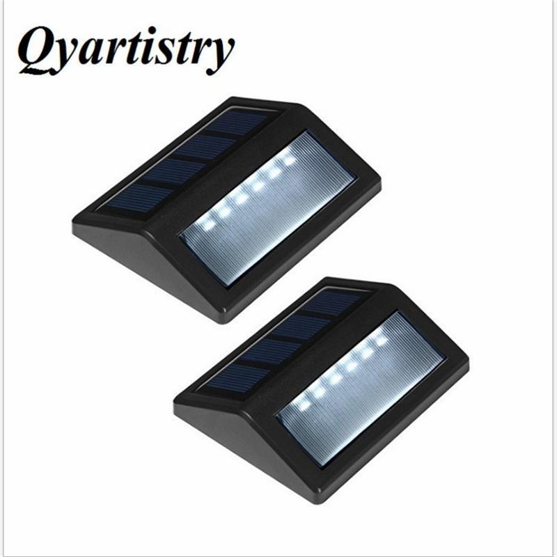 2ps LED 태양 계단 빛 두 개의 설치된 계단 조명 제어 조명 조명 단계 야외 벽 램프