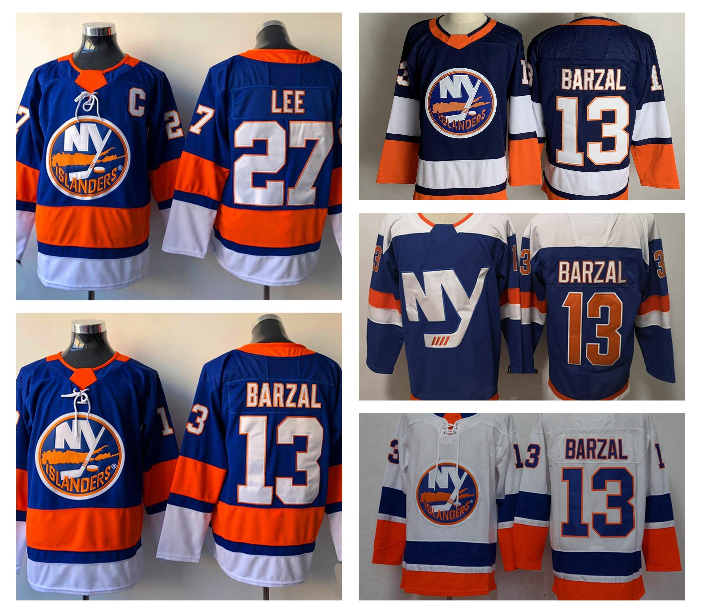2021 York Islanders Hóquei Jerseys Mens Mathew Barzal Jersey Jean-Gabriel Pageau Anders Lee Anthony Beauvillier Brock Nelson Casey Cizikas Costura
