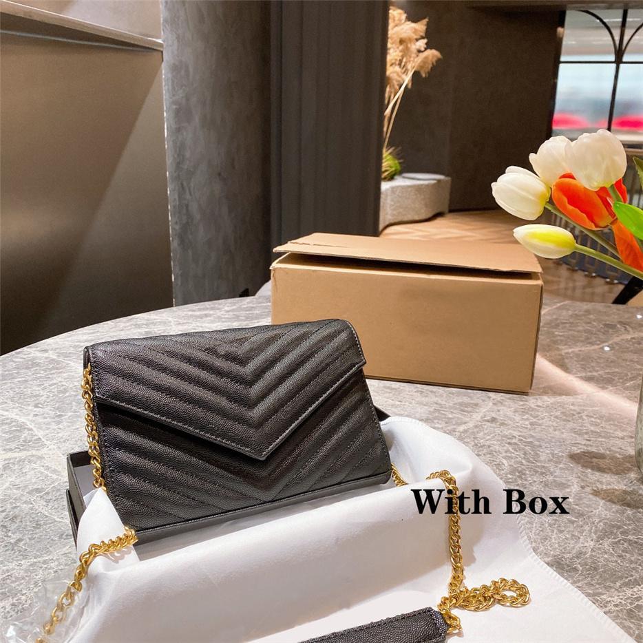 Luxurys Designers Sacs Sacs Femme Sac FLAP Boîte À Sac à main Enveloppe Cuir Cuir Haute Qualité Femmes Messenger Porte-monnaie