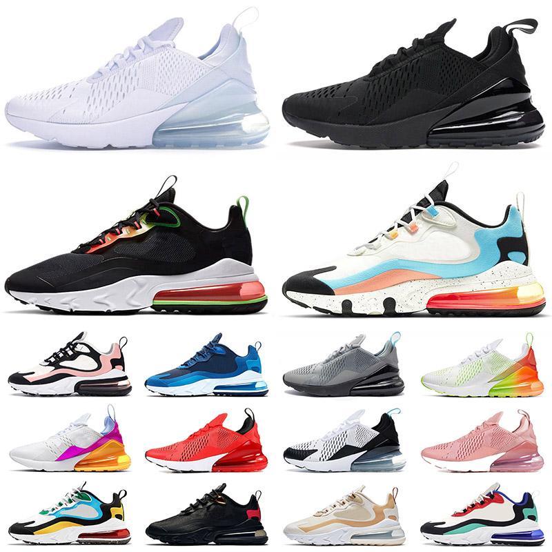 nike air max 270 airmax 270s stock x 270 react رجل إمرأة جميع أحذية الجري أسود أبيض وردي المرأة أحذية رياضية أزياء الرجال أحذية رياضية المدربين