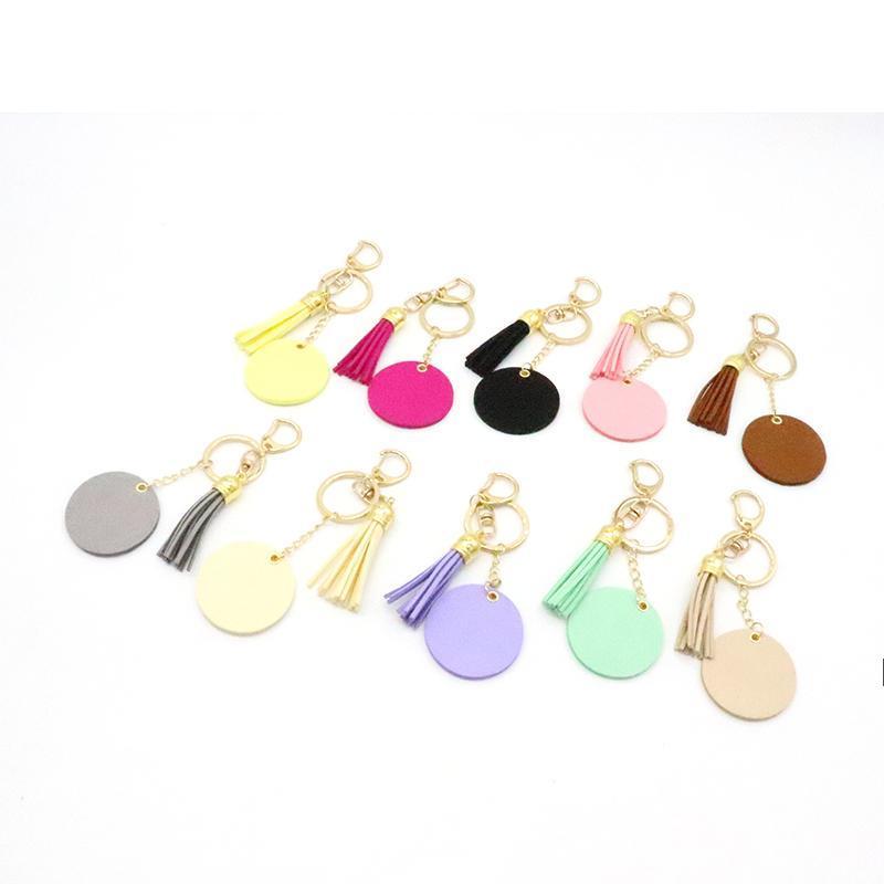 Moda Tassel Keychains Cor Sólida Chaveiro De Metal Decoração De Bagagem Chaveiro Pingente DIY Chaveiro Chaveiro OWB8581