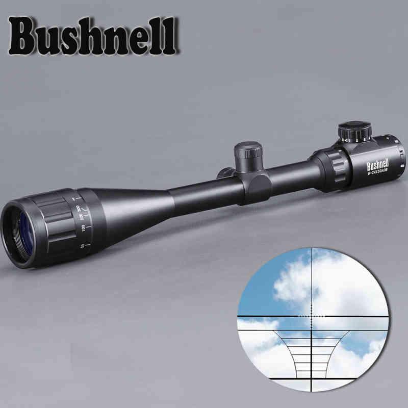 Bushnell 6-24x50 AOE Riflescope Ajustable Verde rojo Dot Caza Luz Táctica Léutor Léxico Vista óptica Ámbito