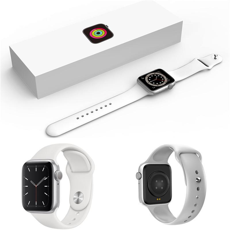 방수 x3 스마트 시계 지원 iOS 안드로이드 1.54 인치 스크린 음악 플레이어 제어 지능형 시계 심장 박동 모니터 ECG SmartWatch