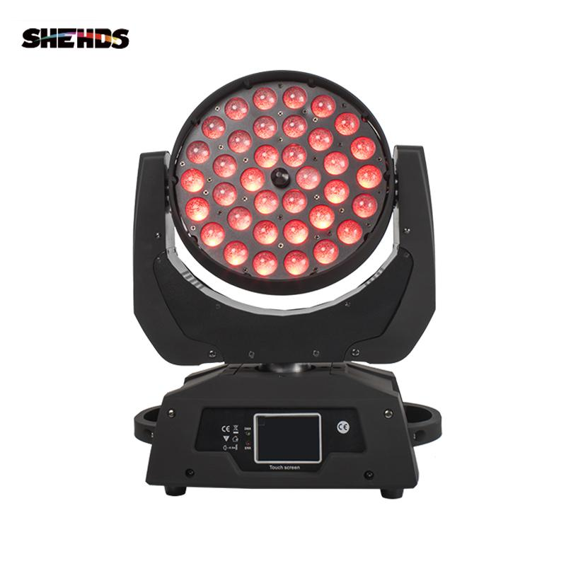 SHEHDS LED Washing Zoom Moving Head Light 36x12W/18W RGBW/+UV Touch Screen Suitable For DMX Stage Professiona/KTV Effect
