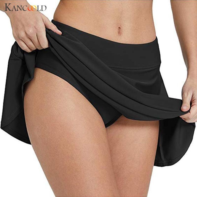Kadınlar bikini alt tankini yüzmek etek artı kısa plaj elbise mayo pantolon Brezilyalı swimdress badpak 2xl iki parçalı takım elbise
