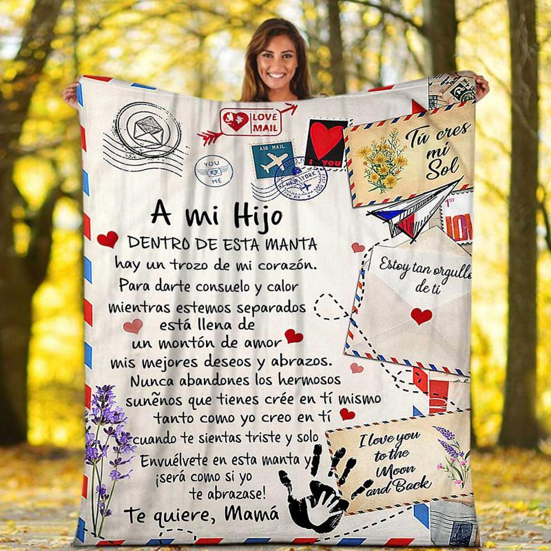 Blankets Message Letter Flannel Blanket Gift To My Daughter Comfortable Wrap Perfect German