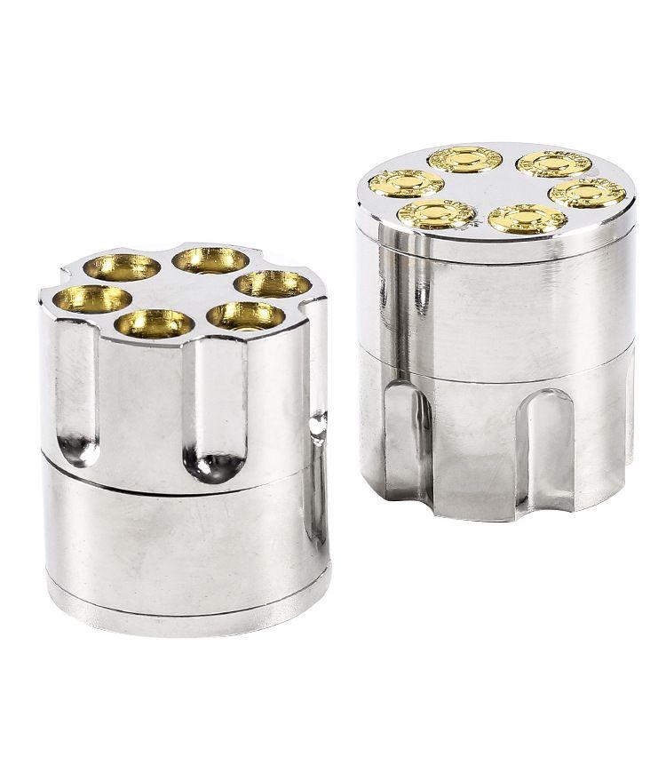 40mm hochwertiges Rauchen kleiner trockener Kräuter Mühle sechs Shooters Metall-Tabak-Schleifmaschinen-Kartuschenhalter
