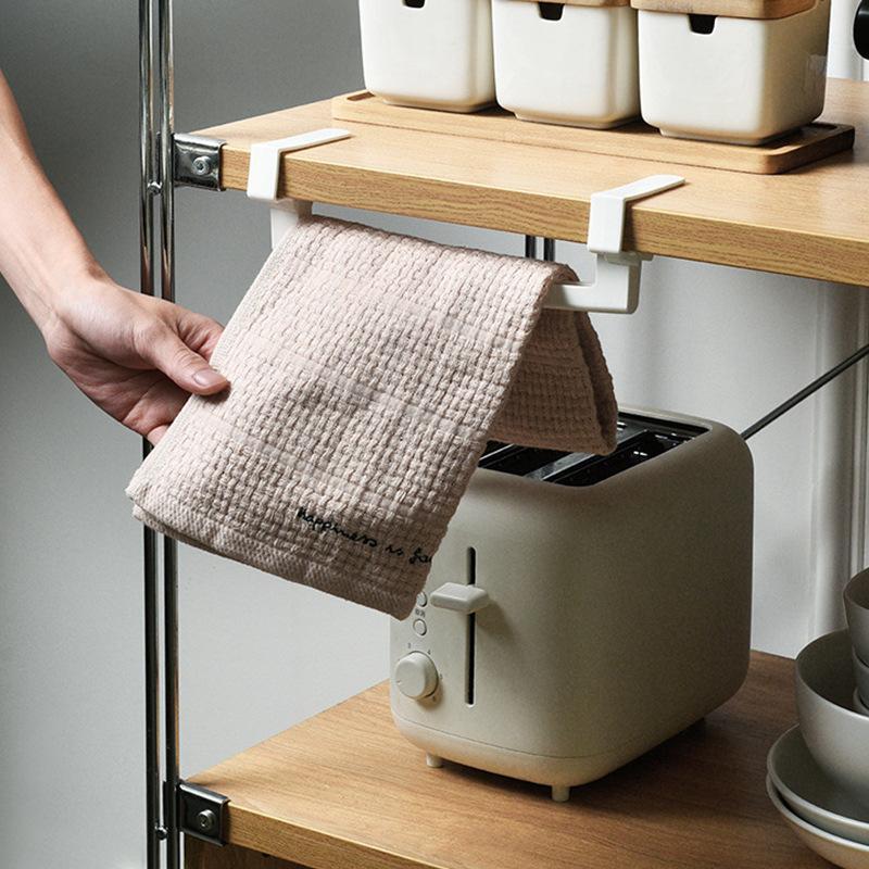 Towel Racks Simple Cabinet Door Single-Bar Rack Kitchen Plastic Desktop Hanging Rag Bathroom Non-Perforated Bath Shelf