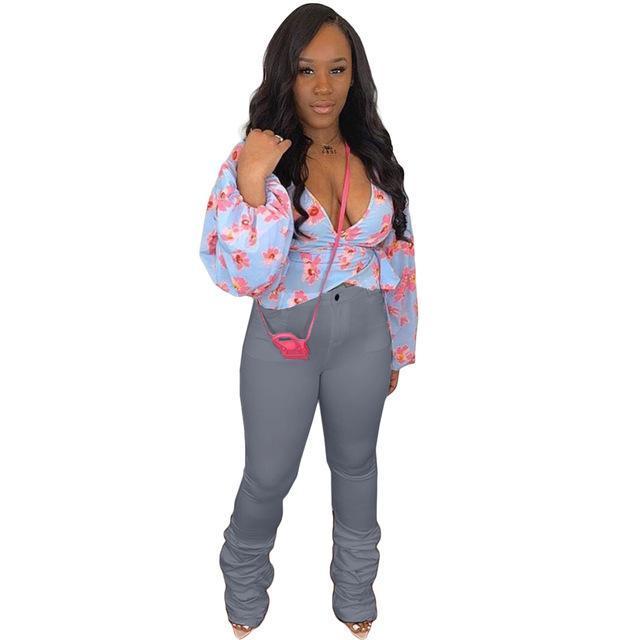 Mulheres Mid Cintura Empilhado Calças Plissadas Micro Flare Calças Drapeadas Jogger Senhoras Casual Straight Slim Fit Pantalon Muje Capris