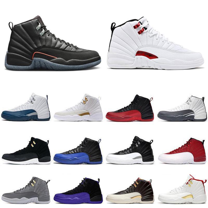 12s XII Ginásio Tênis de Basquete Vermelho CNY Grind Torça Gripe Reversa Jogo Sneakers Homens Universidade Gold Winterized Sapatos FIBA WINGS 12 OYAL Sneaker