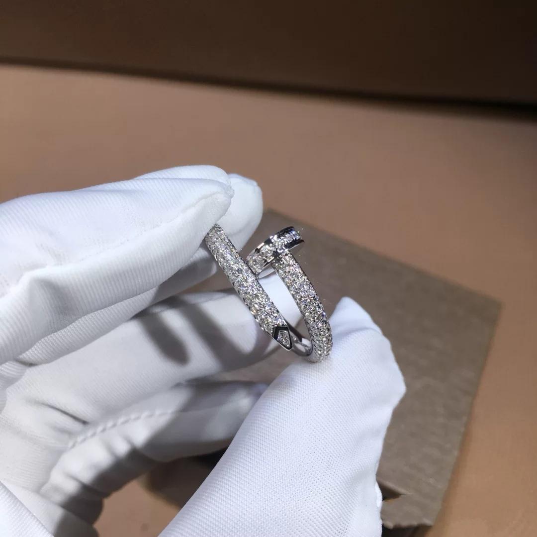 6-9 Anelli placcati color argento oro micro zircone pavimentato moda Full Stone Rose Anello per uomo