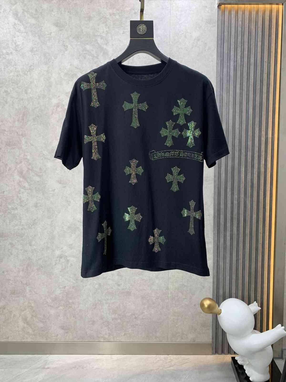 T-shirt en coton à manches courtes croisées croisées pour hommes et vêtements pour femmes