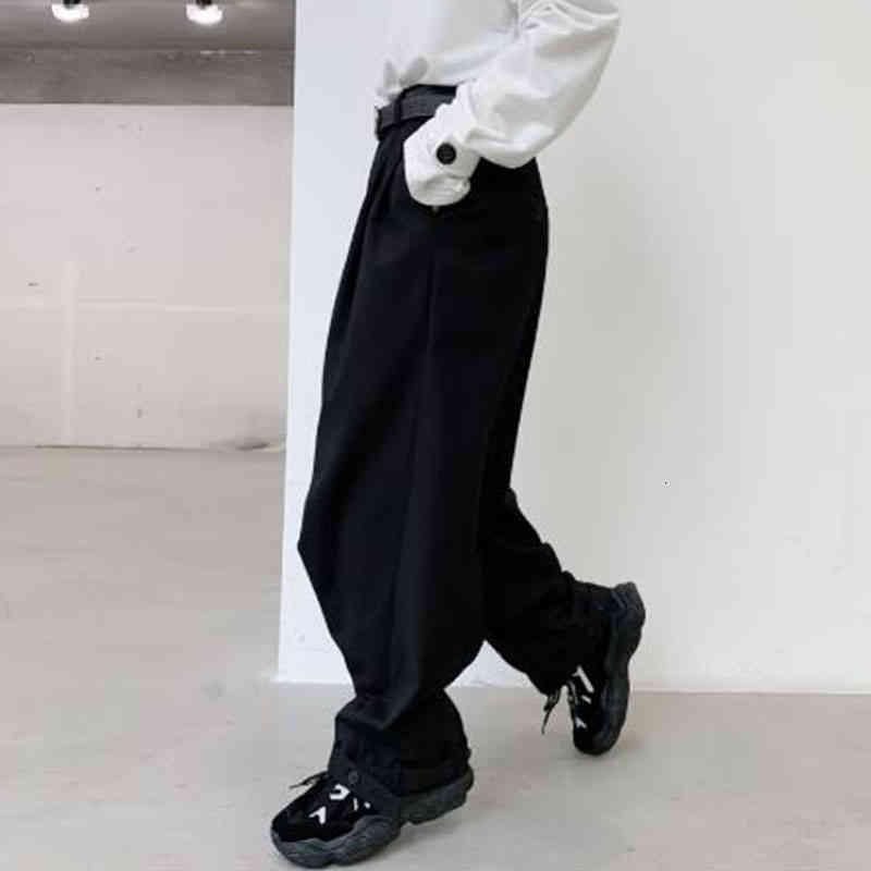 바지 2021 캐주얼 긴 다리가있는 남자들과 남성 빈티지 거리 패션 조정 가능한 힙합 헴 콘 바지 하렘 DK48