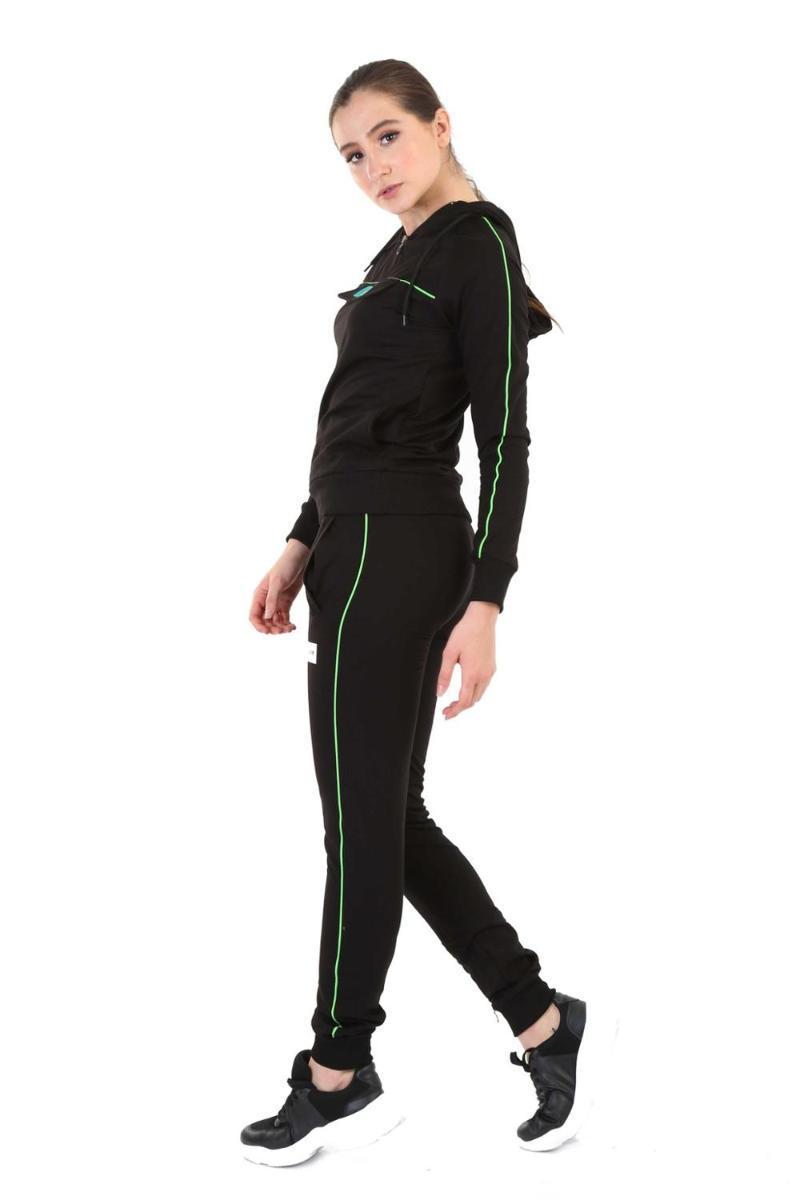 Women's Hoodies & Sweatshirts Black Hooded Tracksuit Set