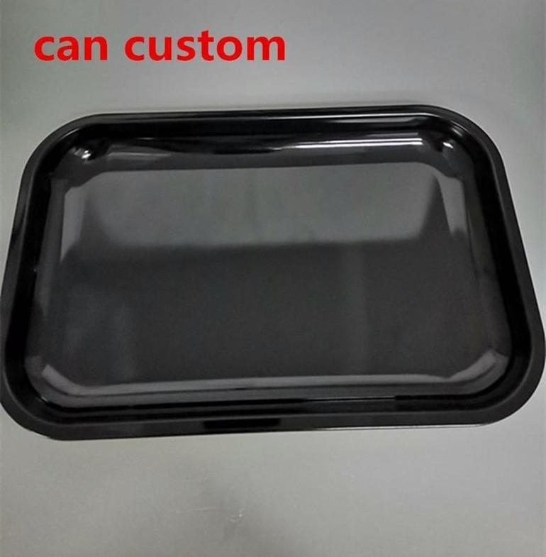 DIY sublimation rolling tray metal rolling tobacco tray metal unique tray tobacco smoke accessory black fast shipping can custom