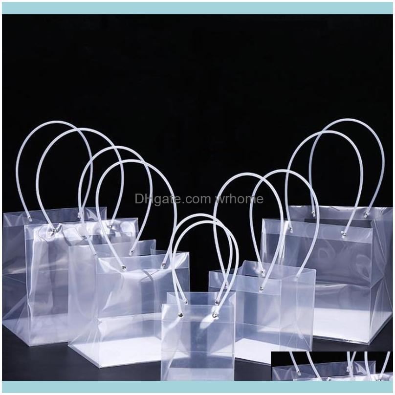 Envoltório Home Jardim Festivo Evento Party Fontes PP Transparente Plástico Plástico Fresco Planta Flor Flor Saco De Casamento Produto Bolo de Presente com Lo