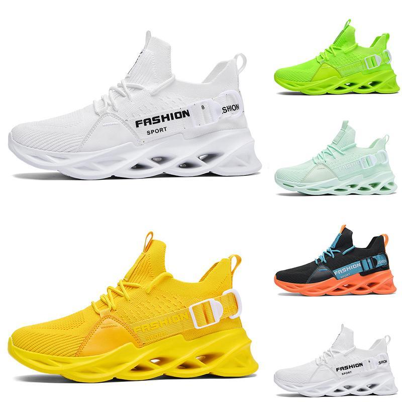 Verano no marca hombres mujeres zapatillas negro blanco lago verde voltio limón amarillo anaranjado medans entrenadores de moda zapatillas deportivas al aire libre
