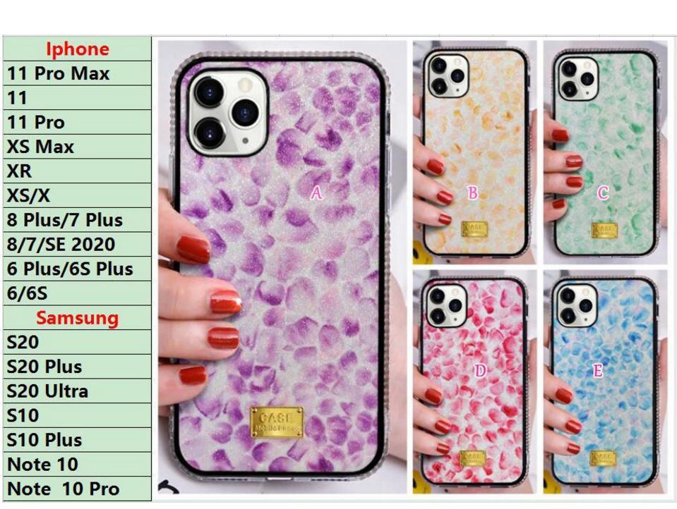 Para Samsung S20 Ultra S10 Plus Note 10 Pro Diamond Bling Cases Flor Pétala Glitter Rígido Plástico + TPU Pearl Crystal Luxury Shinny Cover