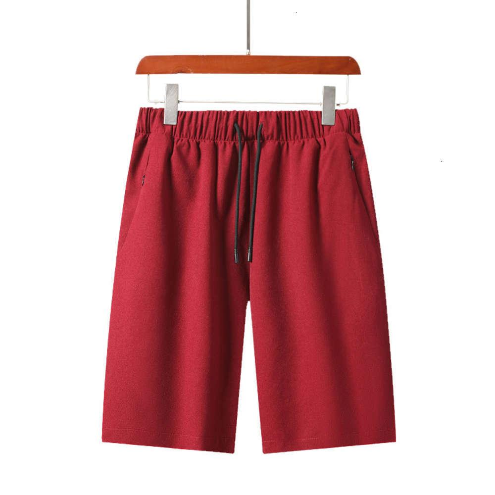 Summer Men's Sports Shorts Algodão Casual Praia 5 Calças de Tendência de Juventude Fina Big Underpants