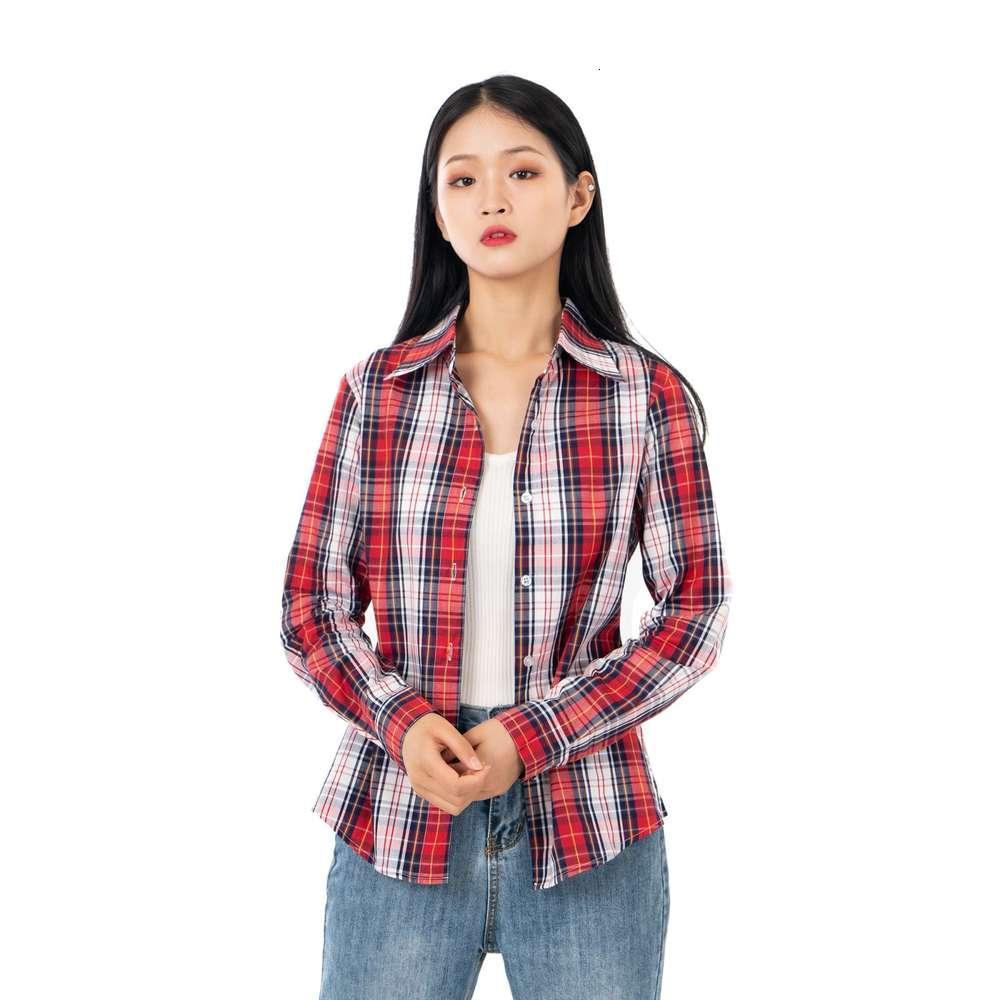 Vêtements pour femmes Dames 'T-shirts Weitianle School Apprentice Étudiant Porter une chemise en coton Chemise de vêtements de sport Cardigan Spring et Automne Fashion L