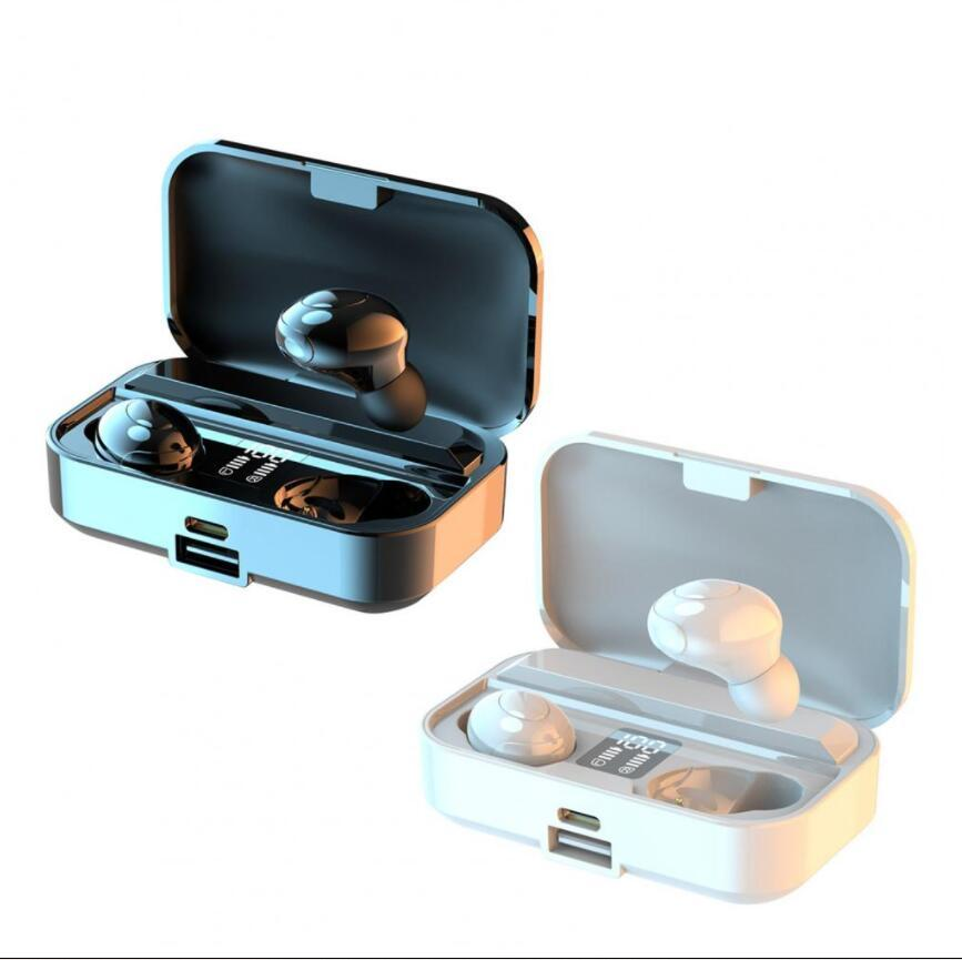 LB-9 Wireless Earphones Low Latency LED Digital Display Long Standby Time TWS Bluetooth compatible 5.0 Stereo In-ear Earbuds