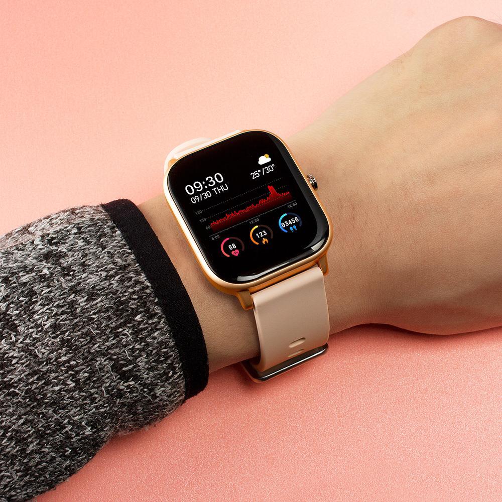 P8 SmartWatch 1.4 pollici Smart Watch Uomo Full Touch Touch Fitness Tracker Blood Pressure Clock Orologi Donne GTS per Xiaomi
