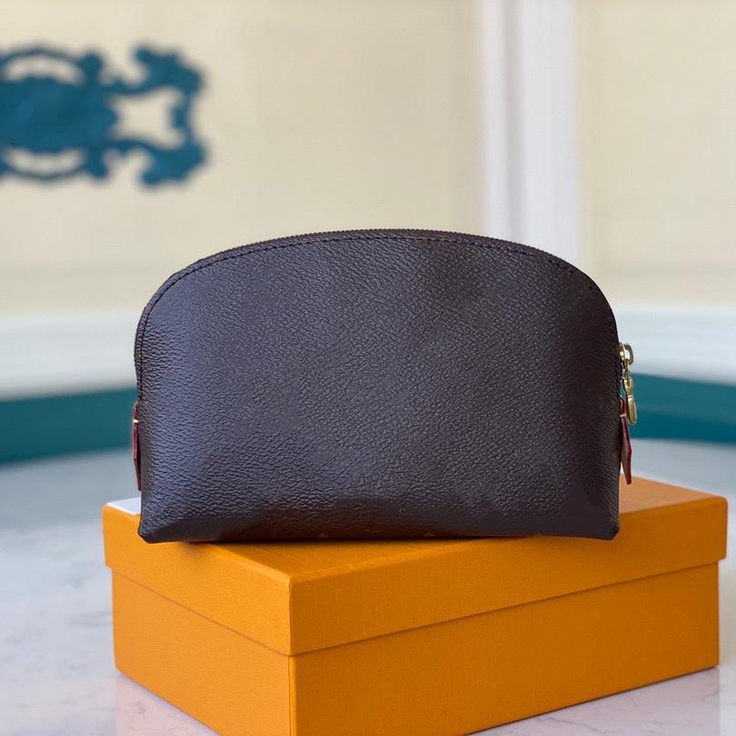 Hobo شكل حقيبة ماكياج مصغرة 17 سنتيمتر المرأة الجمال الحقيبة الكلاسيكية زهرة المدقق المطبوعة المغلفة قماش مع بطانة مضادة المياه مثالية لأدوات مستحضرات التجميل